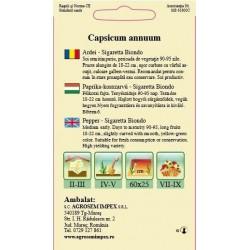 Ardei bulgaresti seminte - Capsicum annuum Sigaretta Biondo