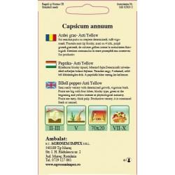 Ardei gras seminte - Capsicum annuum Asti Yellow