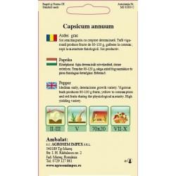Ardei gras seminte - Capsicum annuum Galben Superior-Helga