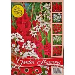 Colectia Garden Harmony rosu cu alb