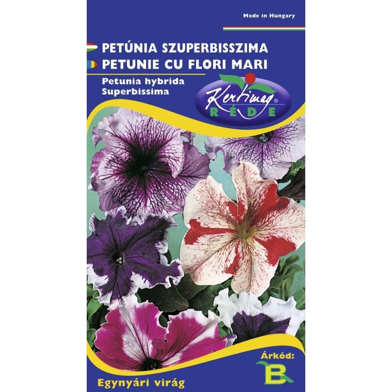 Seminte petunie cu flori mari mix