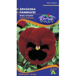 Seminte panselute rosu scarlat cu ochi - KM - Viola tricolor