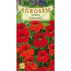 Condurul doamnei rosu seminte - AS - Tropaeolum nanum Alaska Scarlet
