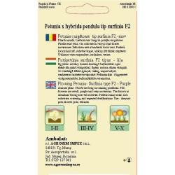 Petunia curgatoare F2 seminte - AS - Petunia x hybrida pendula F2 Polka mix