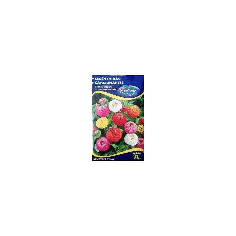Seminte carciumarese pitice - KM - Zinnia elegans Liliput mix