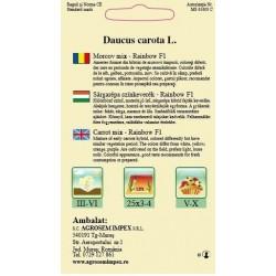 Morcov Rainbow F1 seminte - AS - Daucus carota L.