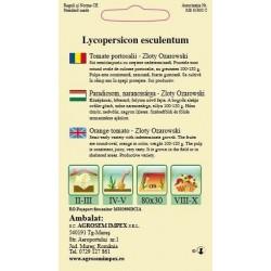 Tomate portocalii Zloty Ozarowski seminte - AS - Lycopersicon esculentum