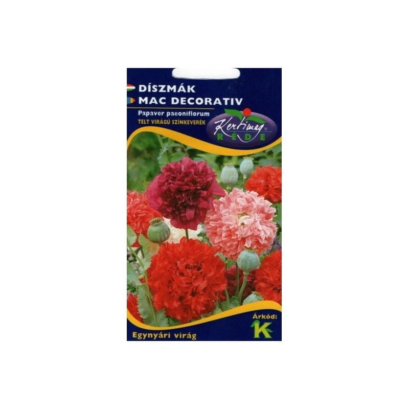 Seminte Mac decorativ - KM - Papaver paeoniflorum