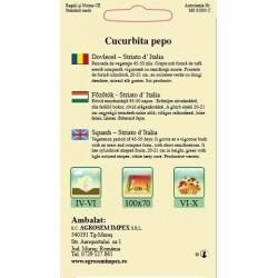 Seminte de Dovlecel Striato D'Italia - AS - Cucurbita pepo var. giromontia