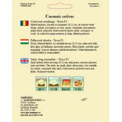Seminte de Castraveti cornichon Tessa F1 - AS - Cucumis sativus