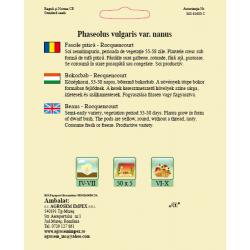 Seminte de Fasole pitica galbena Rocquencourt 50g - BigPack - AS - Phaseolus vulgaris var. nanus