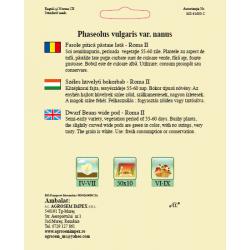 Seminte de Fasole pitica Roma II - BigPack - AS - Phaseolus vulgaris var. nanus