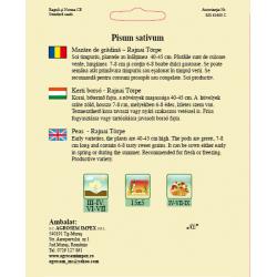 Seminte de Mazare de gradina timpurie Rajnai Torpe 150 g - AS - Pisum sativum