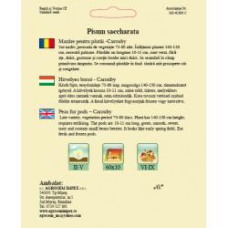 Seminte de Mazare pentru pastai Carouby 100 g - AS - Pisum saccharata