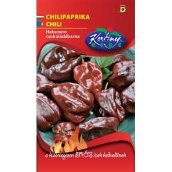 Seminte de Ardei foarte iute Habanero ciocolatiu - KM - Capsicum chinensis