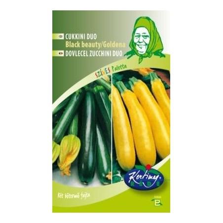 Seminte de Dovlecel Zucchini Black Beauty si Goldena - GB - Cucurbita pepo