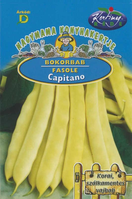 Seminte de fasole pitica Capitano - 50 g - KM - Phaseolus vulgaris