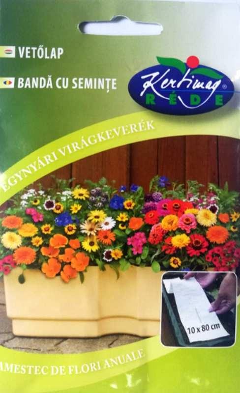 Seminte de Covor de flori pentru jardiniere - KM - 1 banda de 10 cm x 80 cm