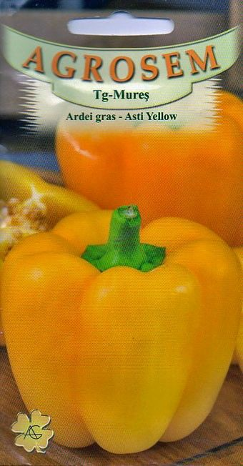 Seminte de Ardei gras Asti Yellow - AS - Capsicum annuum