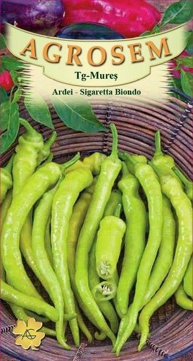 Seminte de Ardei bulgaresti Sigaretta Biondo - AS - Capsicum annuum