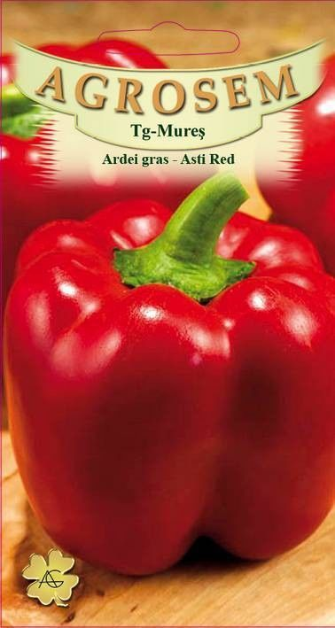 Seminte de Ardei gras Asti Red - AS - Capsicum annuum