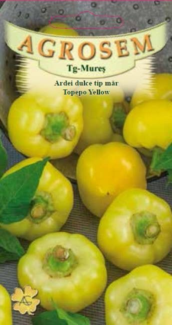 Seminte de Ardei dulce tip mar Topepo Yellow - AS - Capsicum annuum