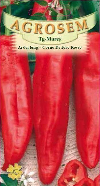 Seminte de Ardei lung Corno di Toro Rosso - AS - Capsicum annuum