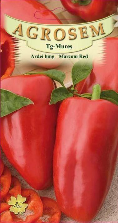 Seminte de Ardei lung Marconi Red - AS - Capsicum annuum