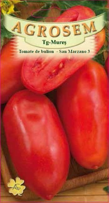 Seminte de Tomate de bulion San Marzano 3 - AS - Lycopersicon esculentum