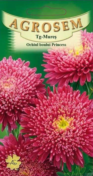 Seminte de Ochiul boului rosu Princess Silvia - AS - Callistephus chinensis