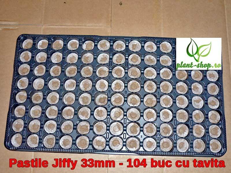 Pastile Jiffy 33mm - 104 buc cu tavita CADOU
