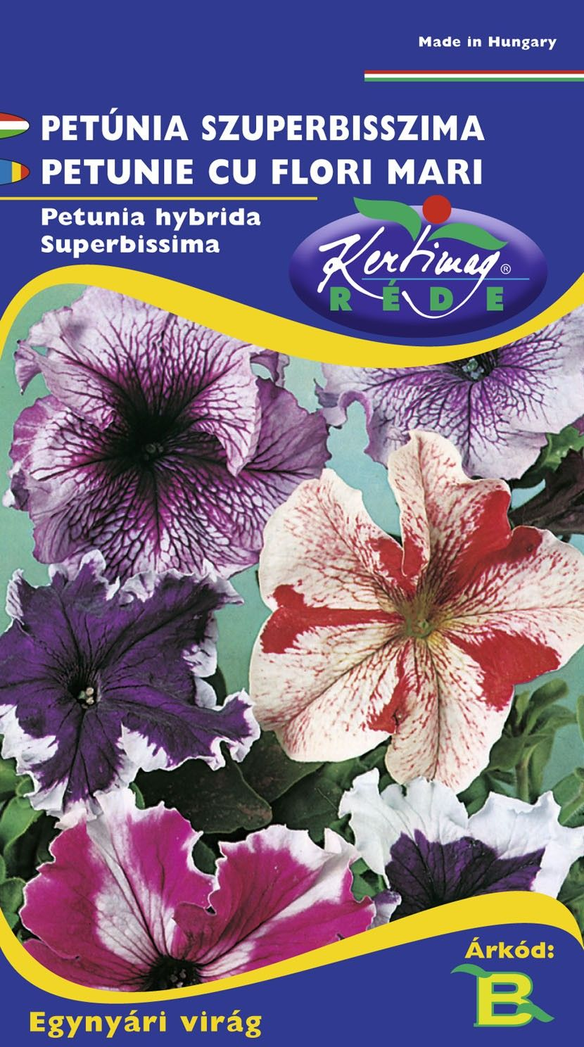 Seminte de Petunie cu flori mari mix - KM - Petunia hybrida superbissima