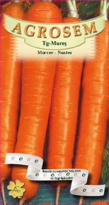 Seminte de Morcov Nantes pe banda cu ingrasamant - AS - Daucus carota