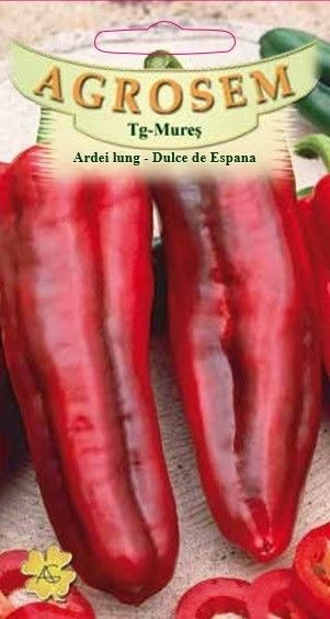 Seminte de Ardei lung Dulce de Espana - AS - Capsicum annuum