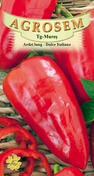 Seminte de Ardei lung Dulce Italiano - AS - Capsicum annuum