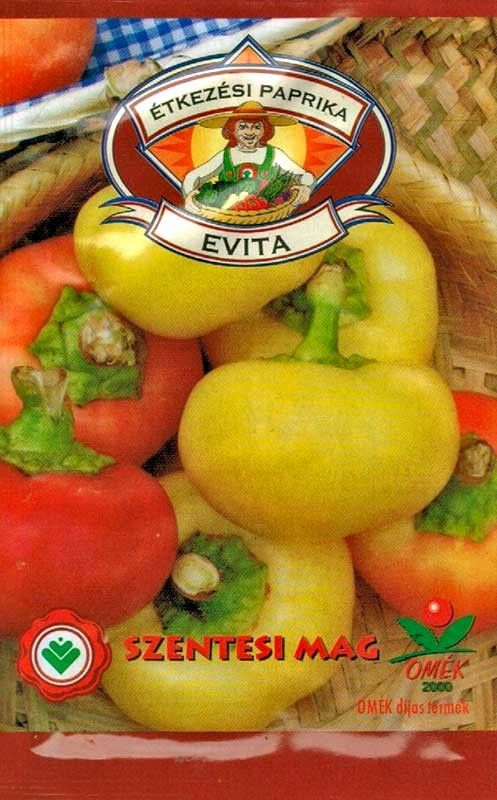 Seminte de Ardei dulce tip mar Evita - SZ - Capsicum annuum L. convar. grossum