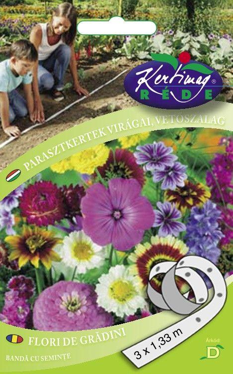 Seminte de Flori de gradini rustice pe banda - KM - 3 x 1,33 m