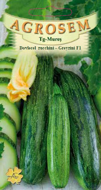 Seminte de Dovlecel Zucchini Greyzini F1 - AS - Cucurbita pepo
