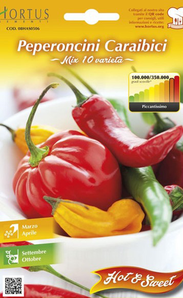 Seminte de Ardei iute Caraibici mix - HT - Capsicum chinense