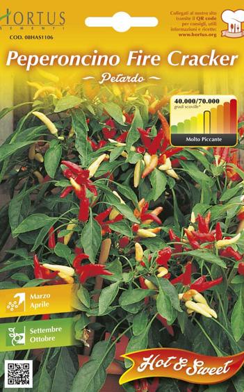 Seminte de Ardei iute Fire Cracker - HT - Capsicum annuum