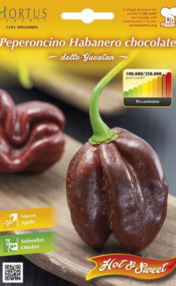 Seminte de Ardei iute Habanero Chocolate - HT - Capsicum chinense