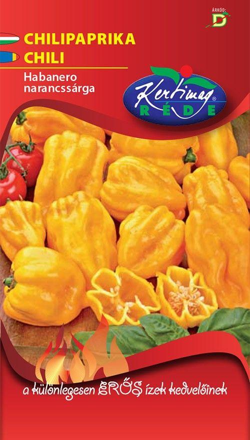Seminte de Ardei foarte iute Habanero portocaliu - KM - Capsicum chinensis