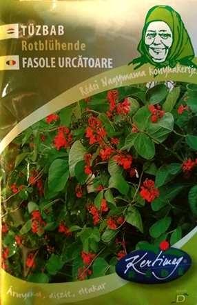 Seminte de fasole urcatoare Rotbluhende - 50 g - KM - Phaseolus vulgaris