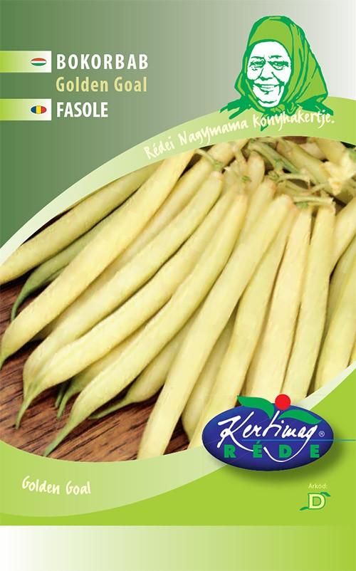 Seminte de fasole pitica Golden Goal - 50 g - KM - Phaseolus vulgaris