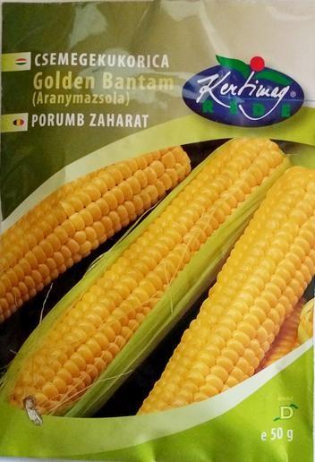 Seminte de Porumb zaharat Golden Bantam - 50 sem - KM - Zea mays convar. saccharata