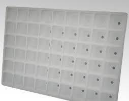 Tavita pentru pastile Jiffy de 44 mm x 60 de gauri